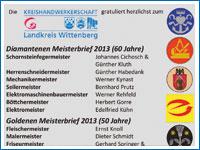 Meisterehrungen 2013